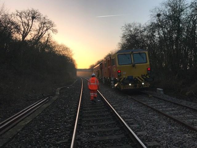 Haddenham & Thame Parkway track renewal Christmas 2019