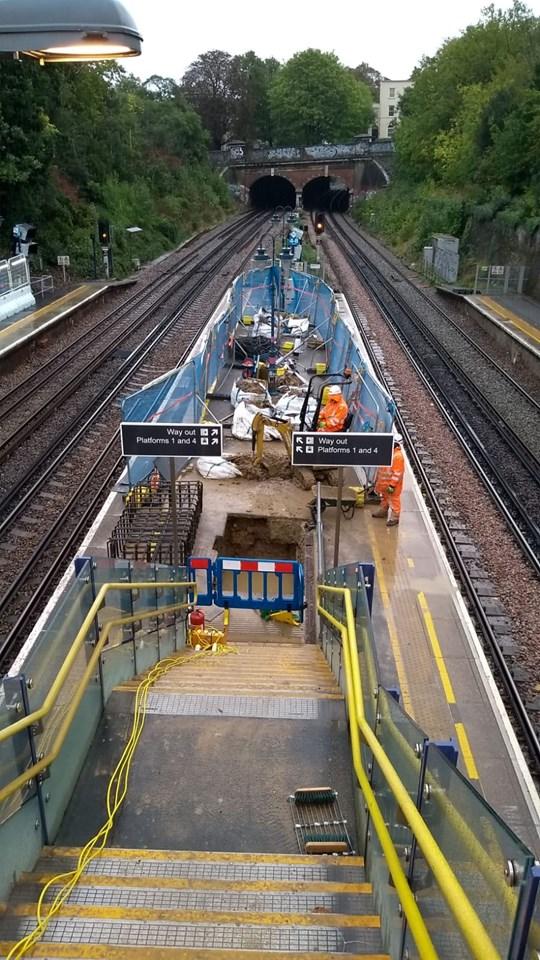 Work gets underway on Denmark Hill station upgrade: Denmark Hill September 2020 progress (3) - Copy