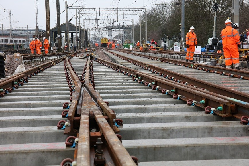 Package of essential rail works starts this month to improve reliability between Norwich and London: Colchester Essex Track Replacement