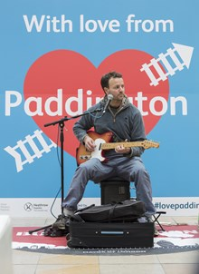 There was live music at London Paddington all day
