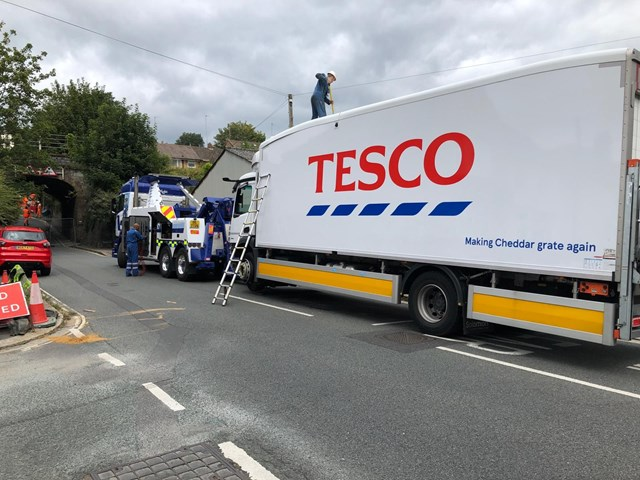 The lorry was freed at 3pm on 31 August
