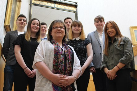 Moray Council interns are Career Ready: Cllr Sonya Warren with the Career Ready interns who've completed four weeks at Moray Council