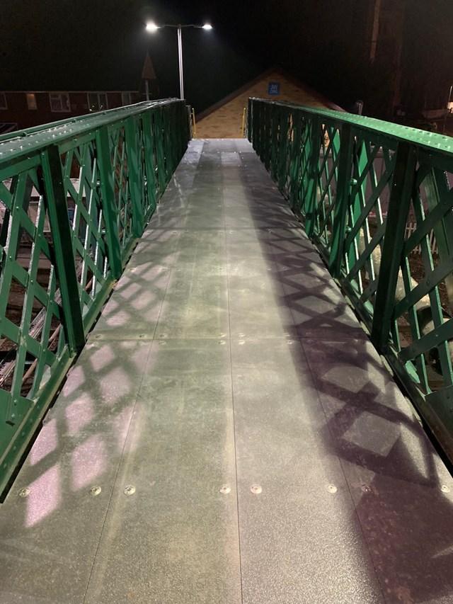 Snodland footbridge stairway