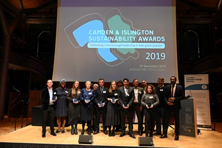 Sustainability Awards 2019: Islington and Camden celebrate best green practice: Islington Winners at the 2019 Sustainability Awards