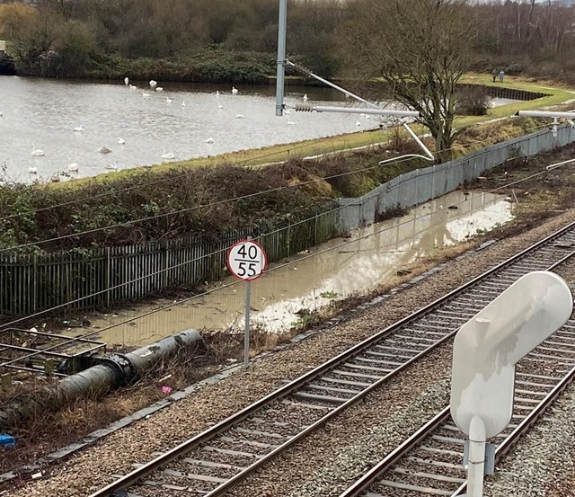 Heavy rain closes railway line in Rotherham – passengers making essential journeys urged to check before travelling: Heavy rain closes railway line in Rotherham – passengers making essential journeys urged to check before travelling