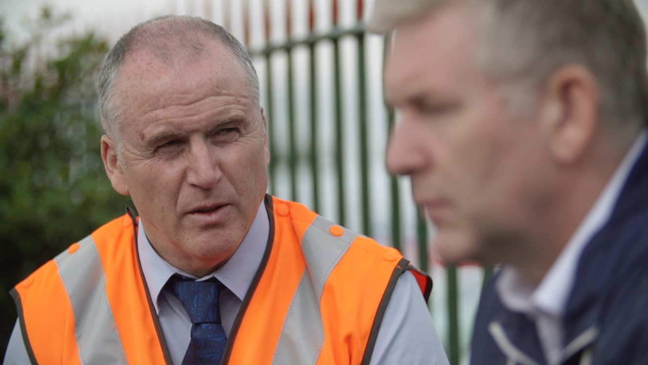 Life-saving rail interventions up 49% in one year on the North West and West Midlands railway: Andrew Wellbeloved, Network Rail local operations manager, featured in Samaritans film 5