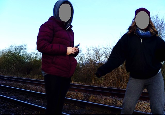 East Riding of Yorkshire parents urged to speak to children about dangers of trespassing on the railway amid school closures: Teenagers trespassing on railway near Howden-2