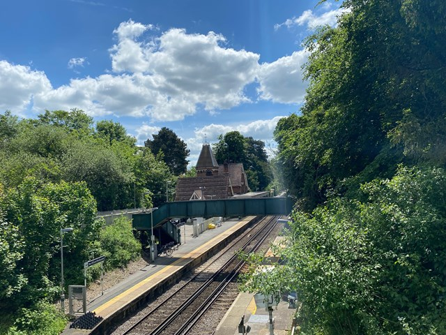 View of Box Hill and Westhumble station