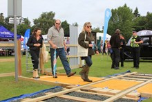Network Rail's mock level crossing helps Norfolk Show visitors understand the importance of railway safety: LX Norfolk Show 29-06-16 (6)