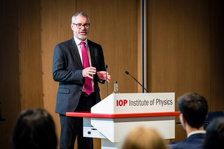 World Of Work Launch 3: Paul Hardaker, chief executive of the Institute of Physics, speaking at the launch event