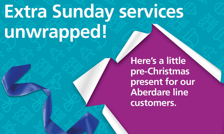 Christmas boost for Cynon Valley as Arriva Trains Wales confirms pilot of extra Sunday services: Extra-Sunday-Services-Unwrapped