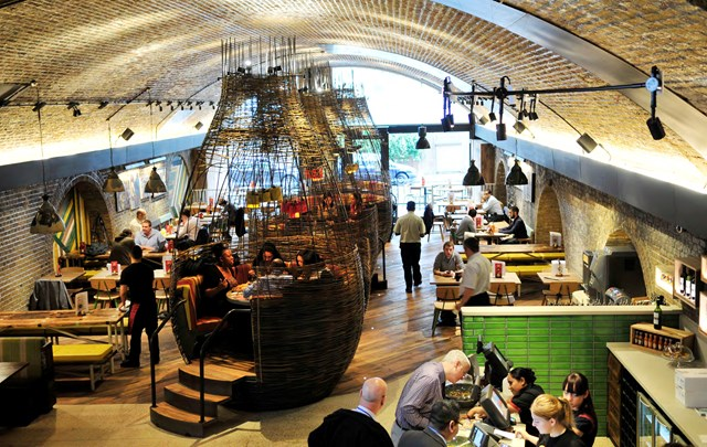Railway arch restaurant - Vauxhall: Innovative fit-outs are creating unique places like this bespoke Nando's restaurant in Vauxhall