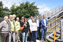 Network Rail is joined by Dorset County  Council, Purbeck District Council and Wool Parish Council for the opening of the new footbridge at Wool 1