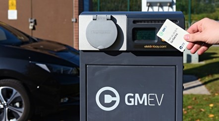 GMEV charging point: Greater Manchester Electric Vehicle (GMEV) network charging point.