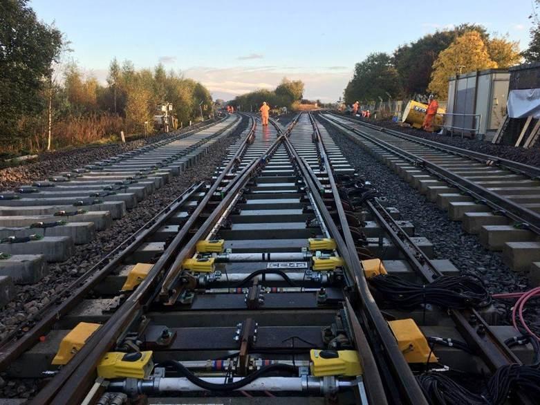 Vital engineering works for Coatbridge railway line: rail junction general pic
