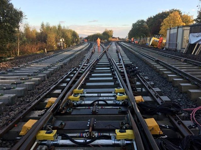 Vital engineering works for Coatbridge railway line: rail junction general pic