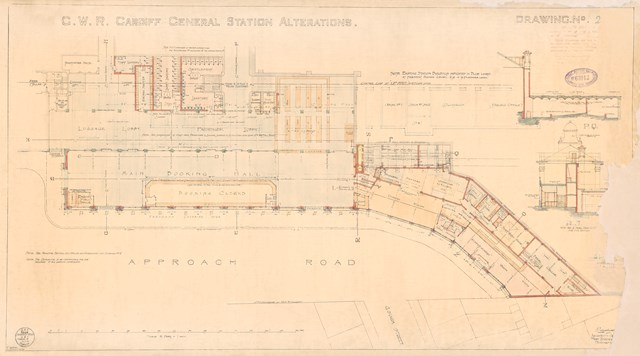 Cardiff Central - original drawing 1