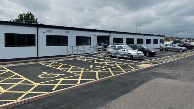 Exterior shot of the new Northampton depot