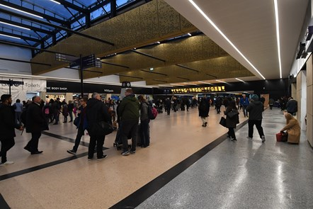 New concourse at Leeds station