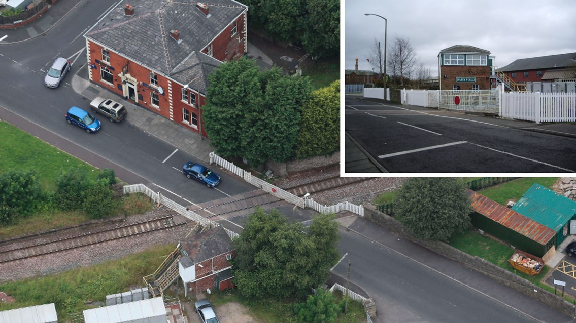 Passengers and road users reminded of Blackburn level crossing work this weekend: Daisyfield crossing composite