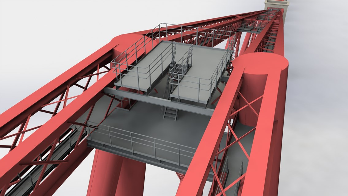 Network Rail seeks contractor for Forth Bridge walk: Forth walk 2 - viewing platform Queensferry (south) cantilever