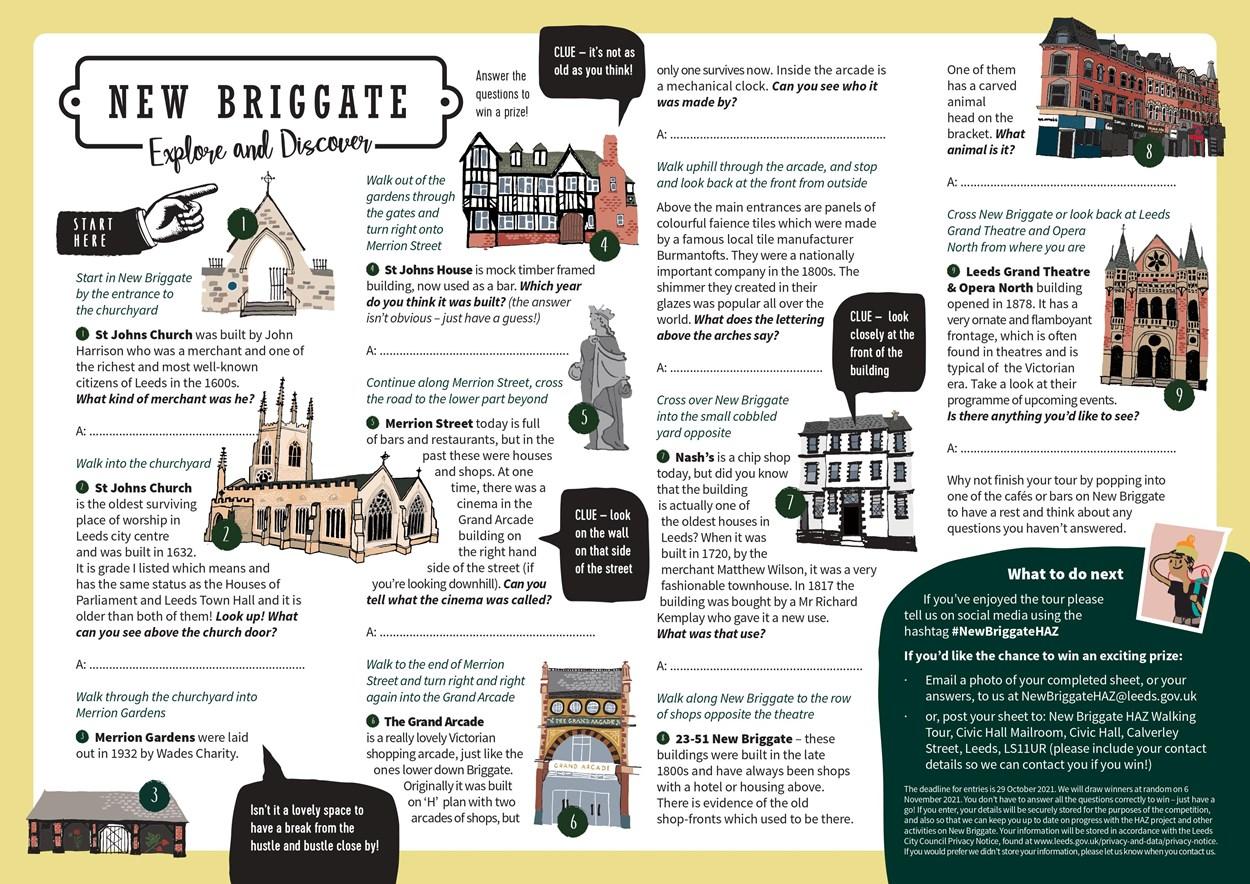 New Briggate - Explore and Discover quiz