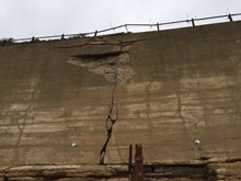 Damage to the sea wall at Dover, Kent Picture 1