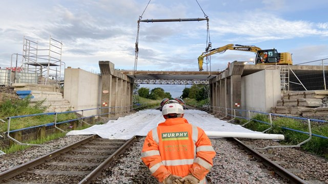 Passengers urged to check before they travel during Crewe railway bridge overhaul: A530 Middlewich Road bridge renewal