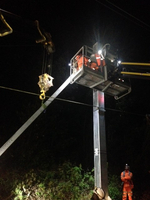 Southend Victoria branch line overnight structure instalation