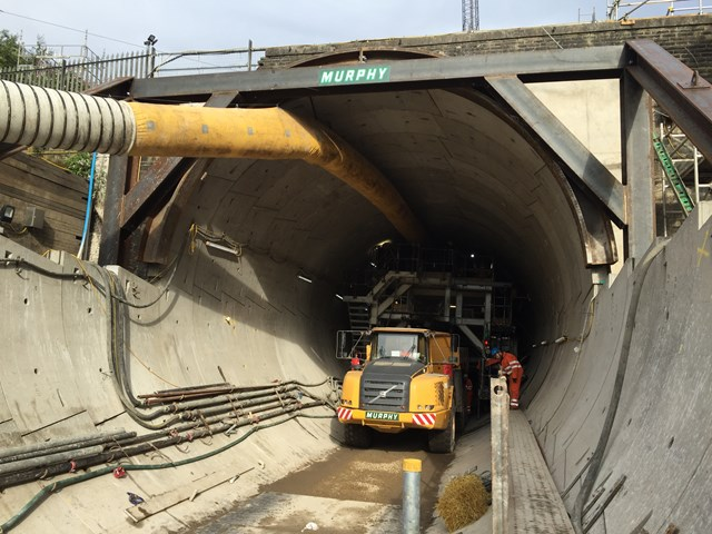 Farnworth Tunnel - looking into the new tunnel