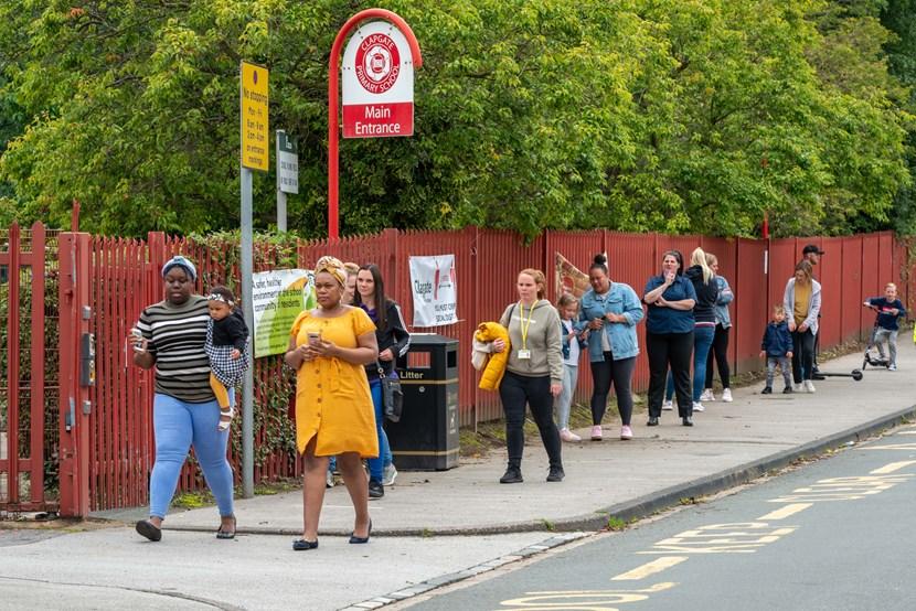 Eight new pilot 'School Streets' start from today across Leeds: CLAPGATE Leeds school streets @Lizziecoombes2020