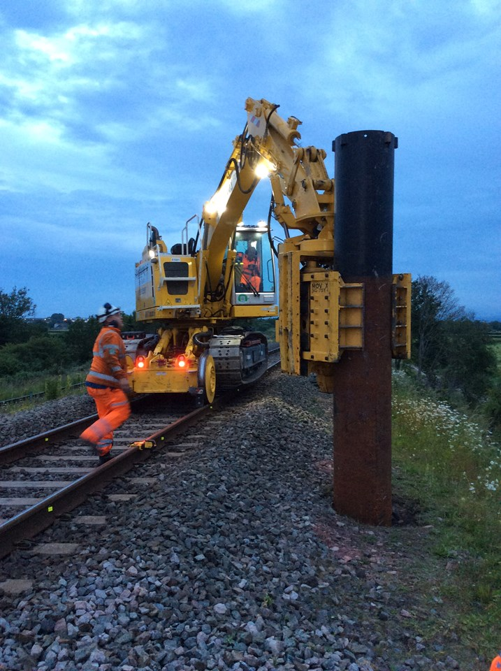 Piling on the South Wales Mainline
