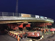 Installation of new bridge deck at Awsworth bridge