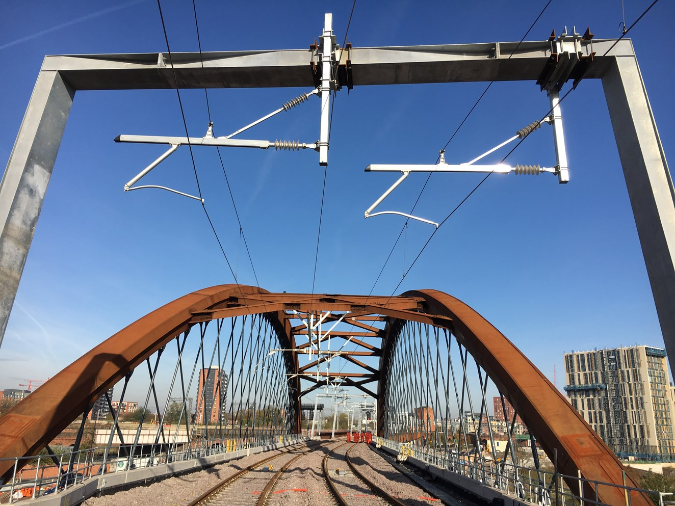 Old gives birth to the new as iconic railway bridge completes: Ordsall Chord completion