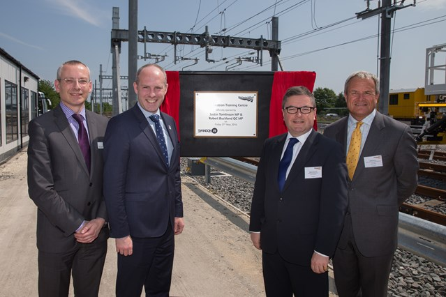 Great Western Electrification Programme hits two major milestones as main line announced as 'live' and Electrification Training Centre opens: Opening of the Electrification Training Centre in Swindon