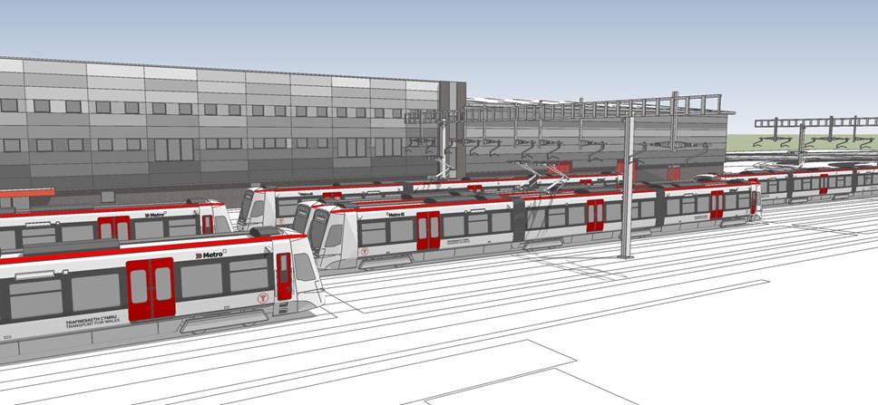 Building begins on Metro Control Centre: Taffs Well Depot Artist Impression 6