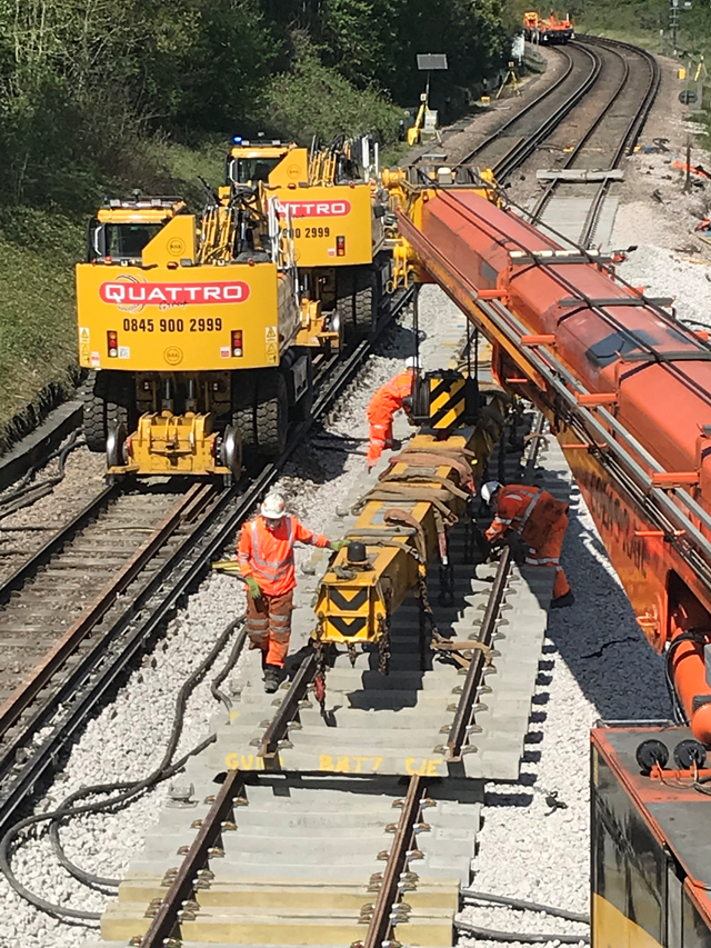 Remember, remember, we're working on the railway this November – with big improvements planned in and around Bournemouth: Track replacement work-6