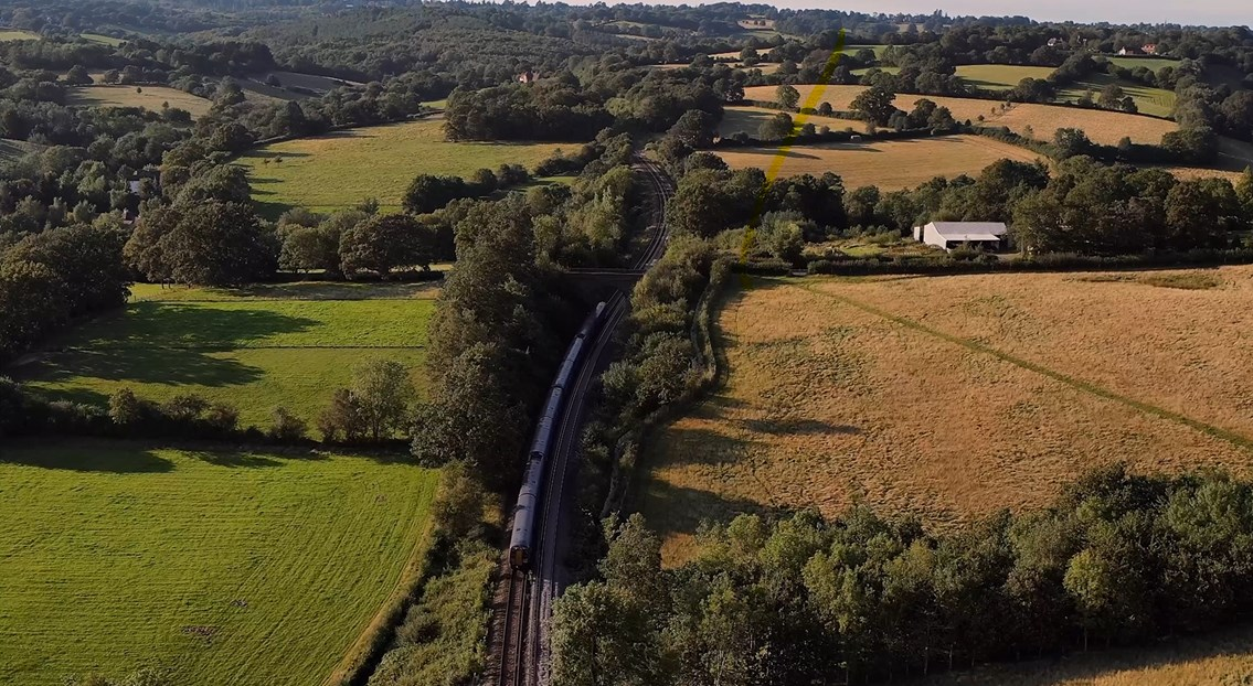 A Southeastern train winds its way through Church Settle, where Network Rail will be working this October