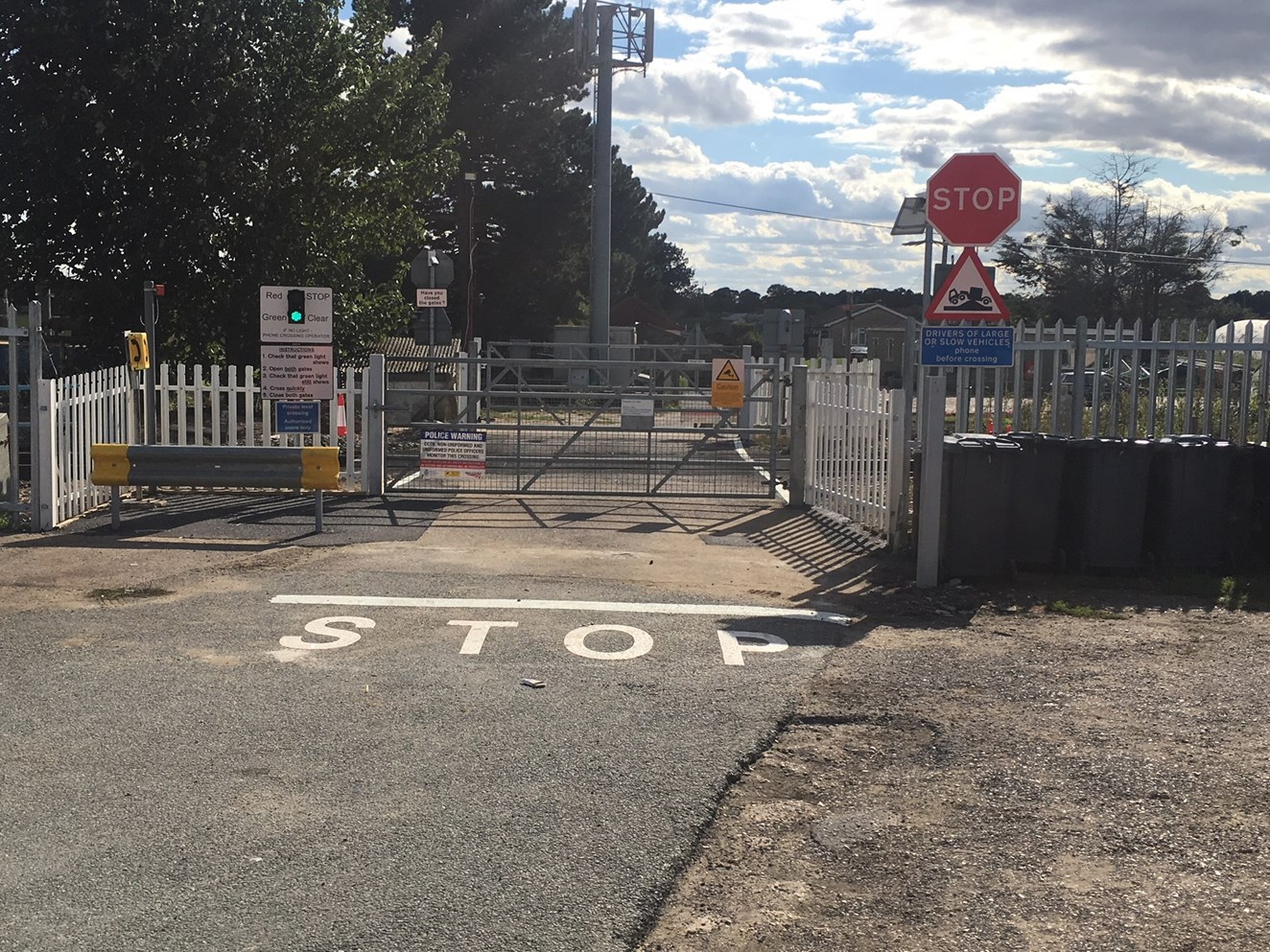 Suffolk level crossing reopens following a serious collision: Routs level crossing ropens