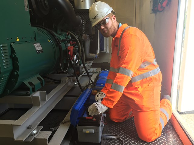 David Woodard electrical technician