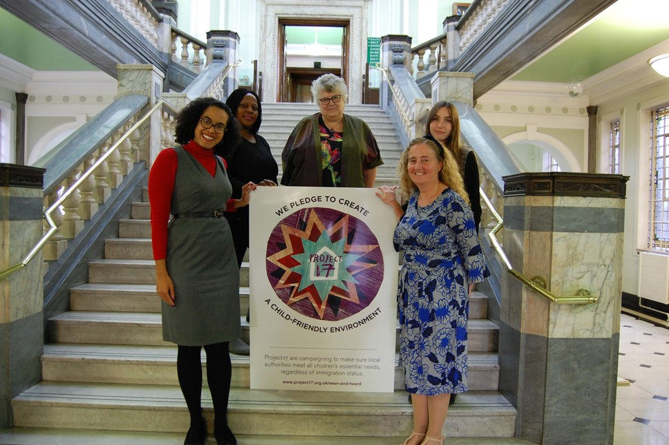 Council pledges support for children's rights: Signing of the the Project 17 Children's Charter