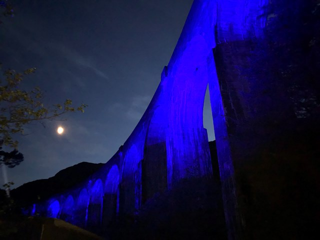 Light-up story of lockdown comes full-circle at Glenfinnan viaduct: 20200528 222736473 iOS