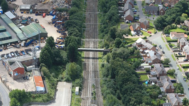 Passengers informed about weekend rail upgrades in Cheshire: Sandbach-aerial-2