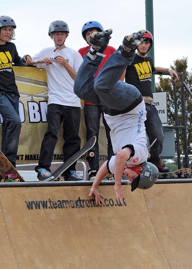 Skaters show off their skills @ No Messin'! Live, Basildon