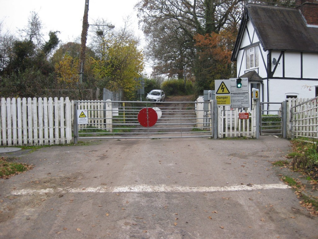 Call for greater care after latest near miss on Cheshire level crossing: Barthomley level crossing 3