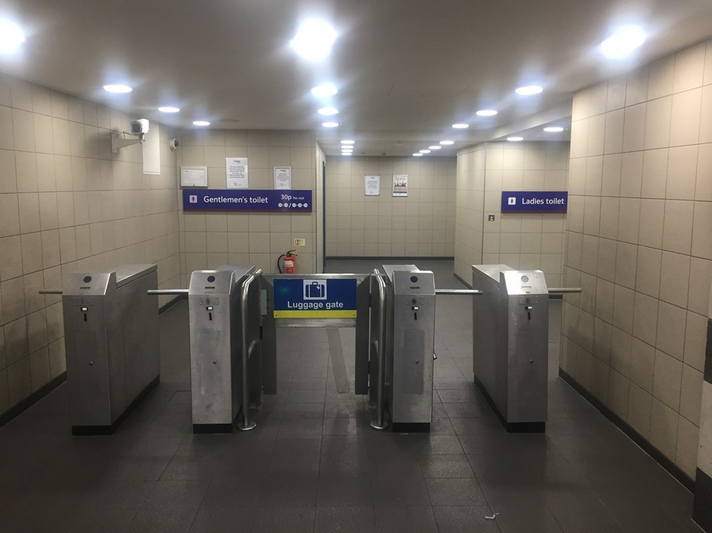 Peeing for free is no April Fool's joke for millions of passengers: The last of the country's biggest and busiest station toilets 'free to pee'