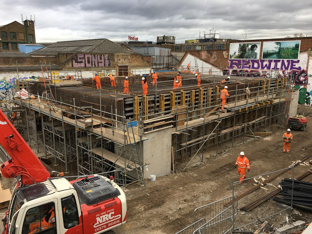 New subway to be installed at Hackney Wick station at Easter as part of improvement plans: Hackney Wick station subway in progress