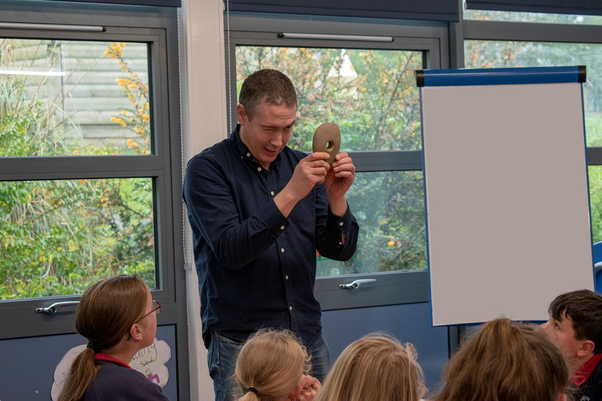 Warren Bailie from Guard archaeology in the classroom