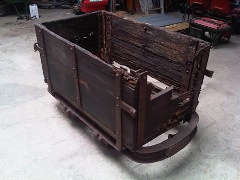 Old German wagon found inside the vault of Bath Spa