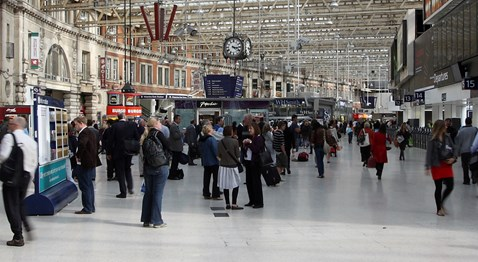 Waterloo Station Concourse - Before